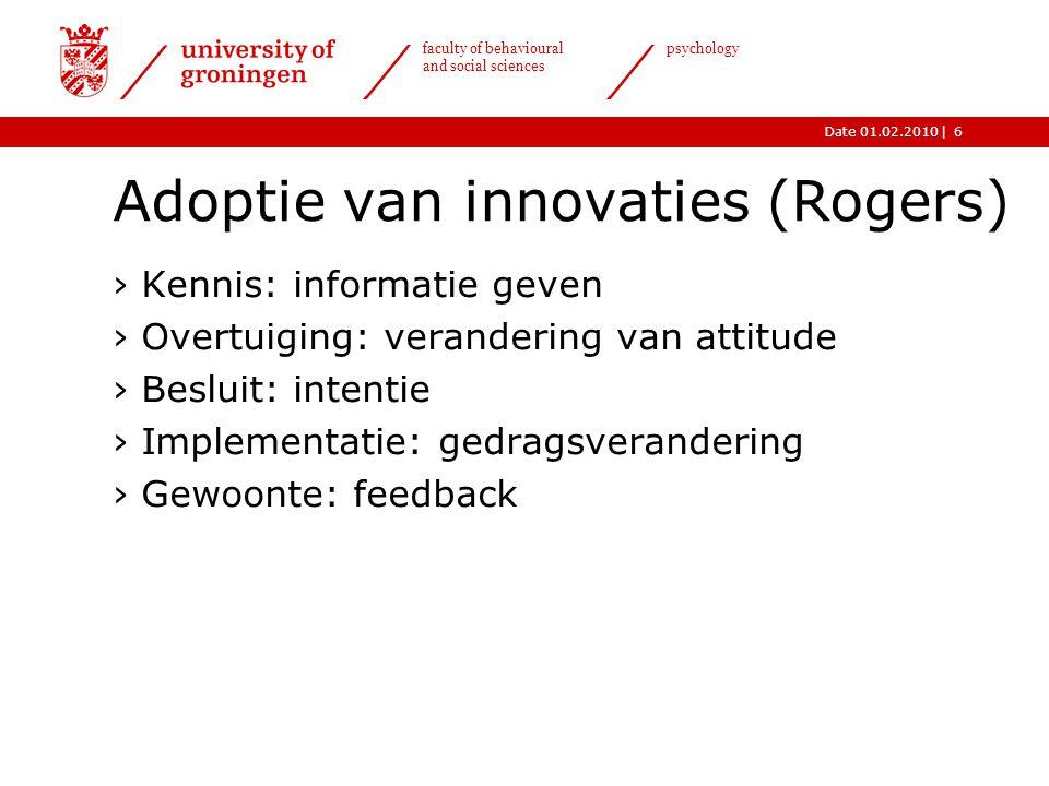 Adoptie van innovaties (Rogers)