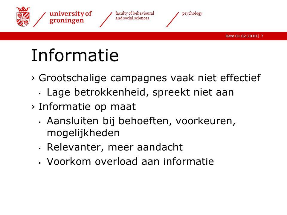 Informatie Grootschalige campagnes vaak niet effectief