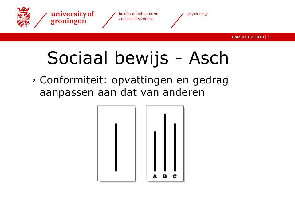 Sociaal bewijs - Asch Conformiteit: opvattingen en gedrag aanpassen aan dat van anderen