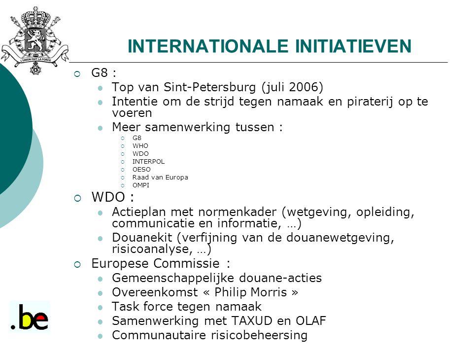 INTERNATIONALE INITIATIEVEN
