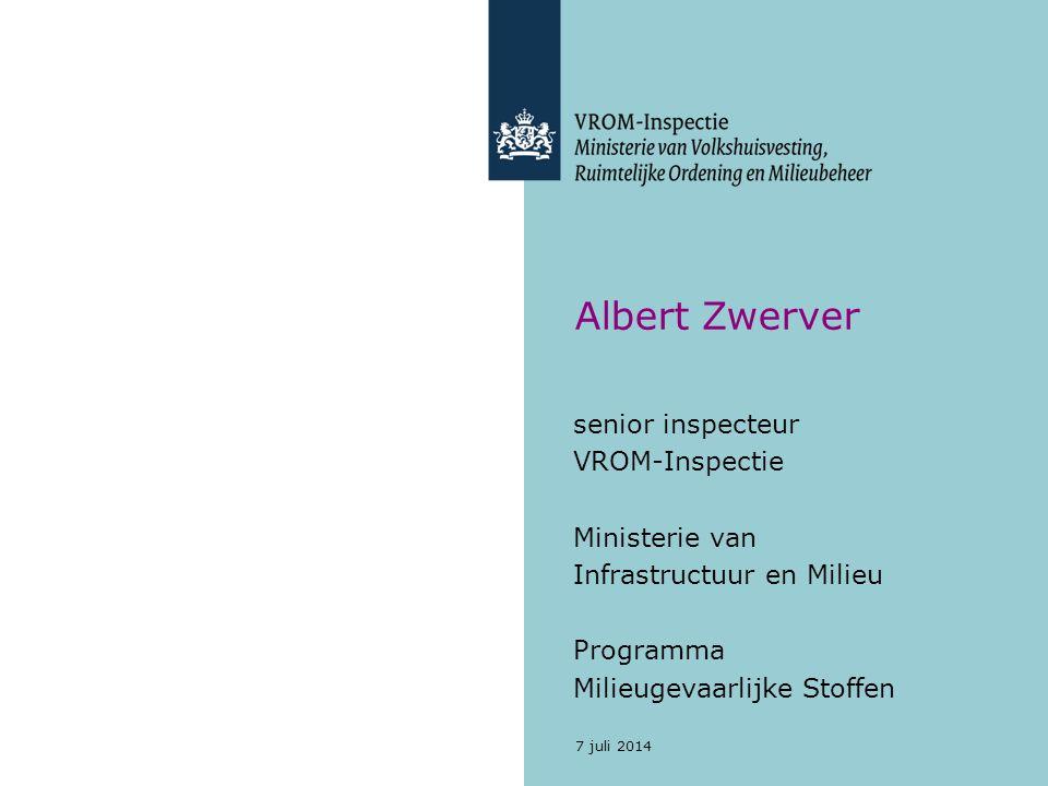 Albert Zwerver senior inspecteur VROM-Inspectie Ministerie van
