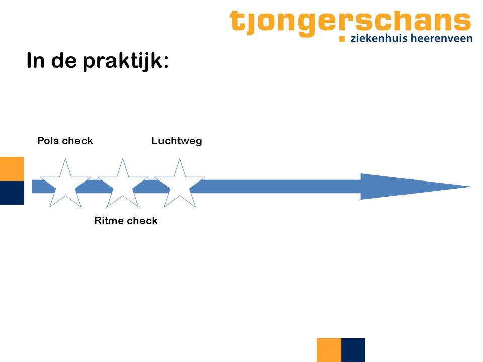 In de praktijk: Pols check Luchtweg Ritme check