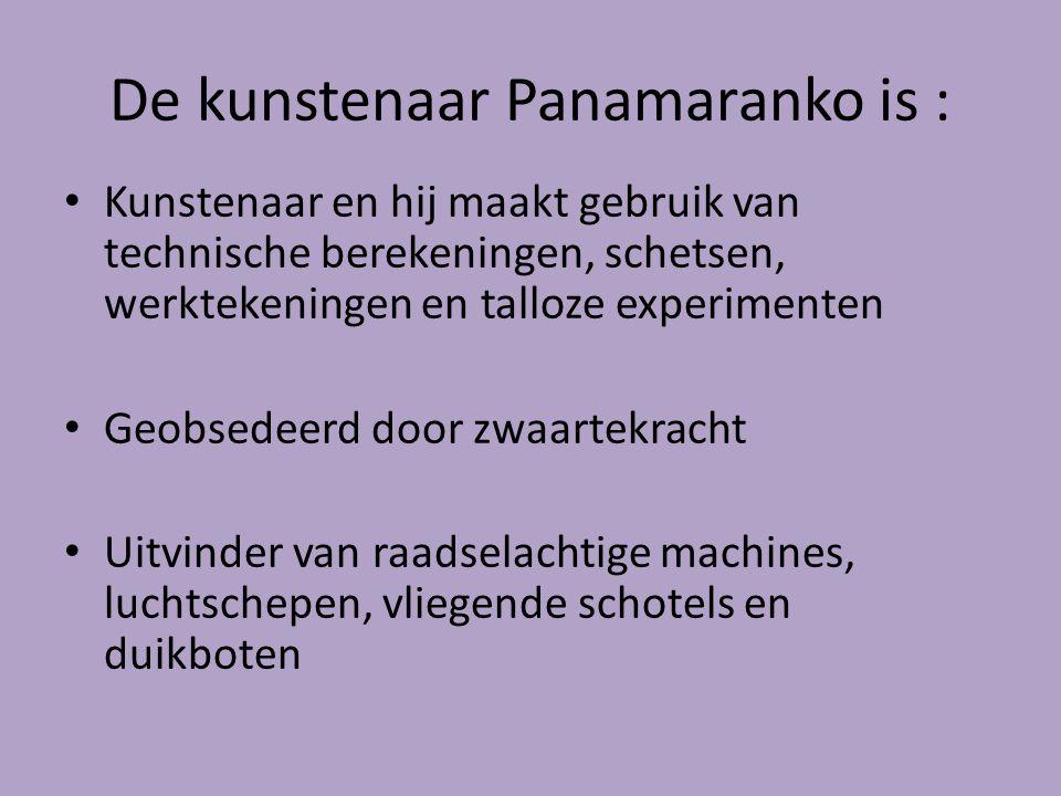 De kunstenaar Panamaranko is :