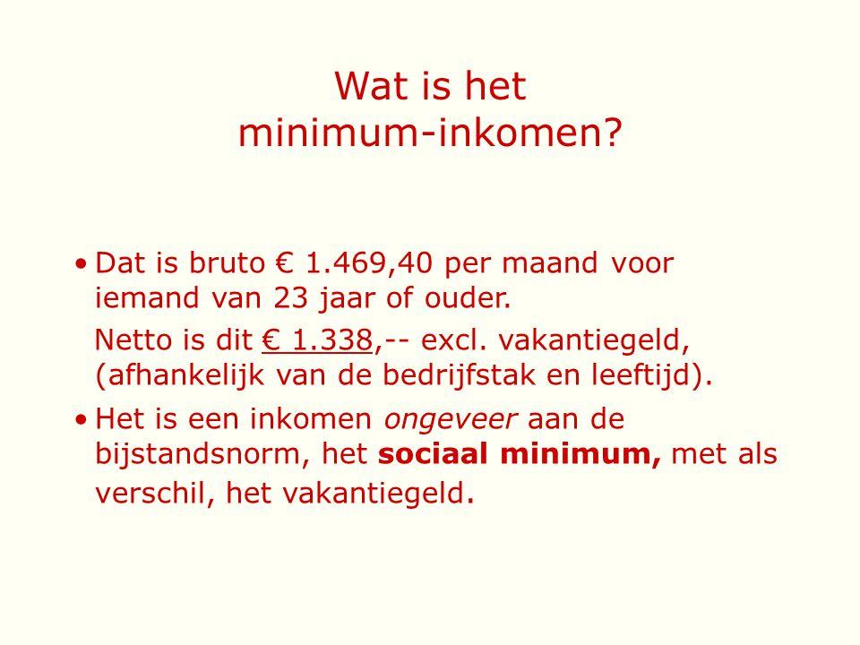 Wat is het minimum-inkomen