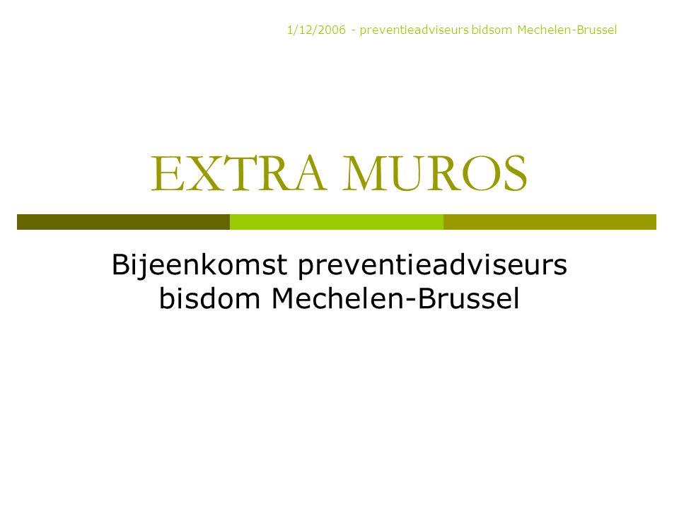 Bijeenkomst preventieadviseurs bisdom Mechelen-Brussel