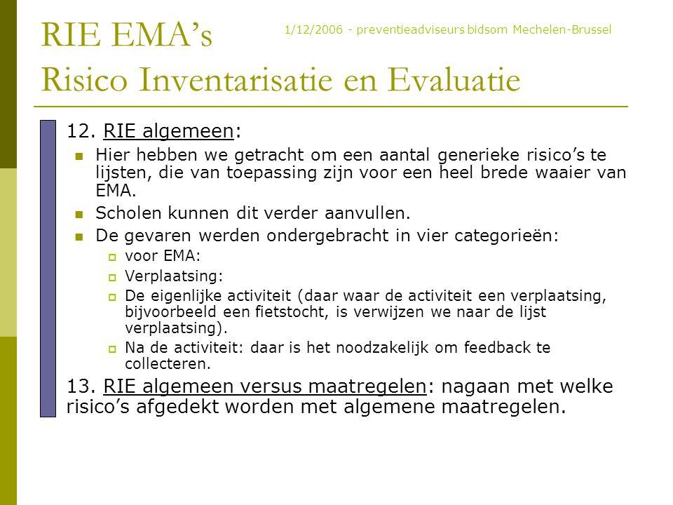 RIE EMA's Risico Inventarisatie en Evaluatie