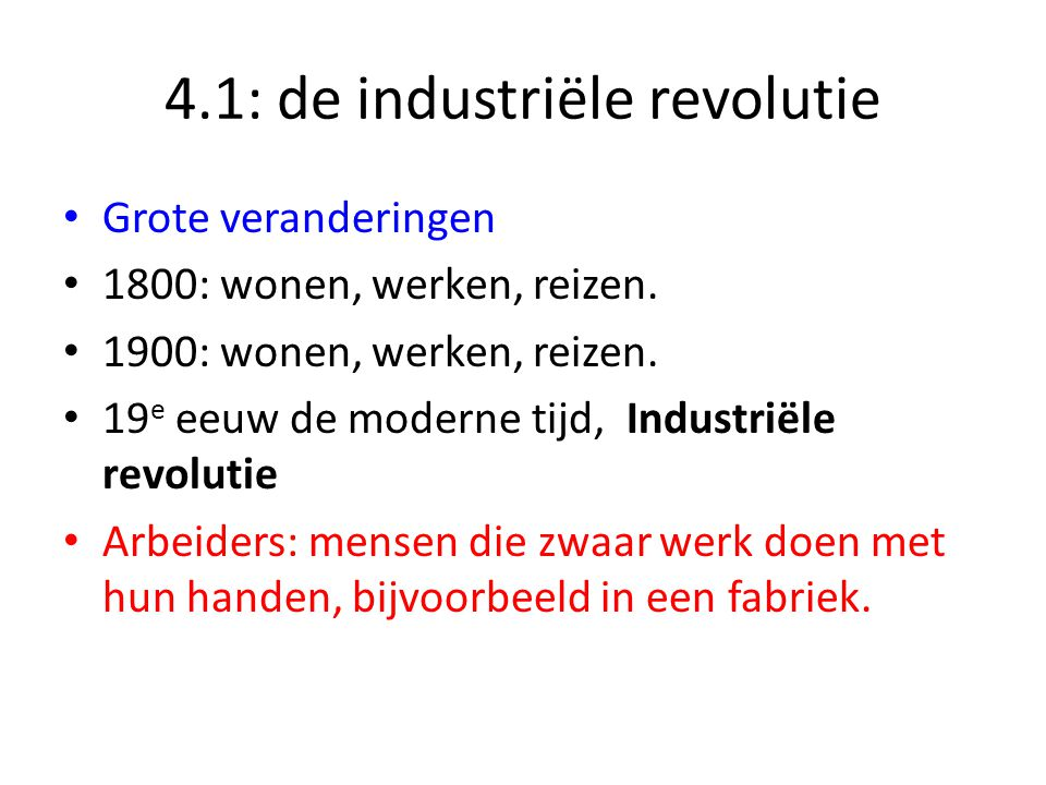4.1: de industriële revolutie