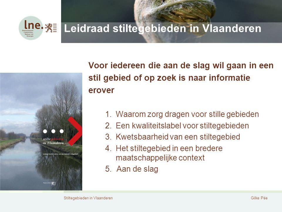 Leidraad stiltegebieden in Vlaanderen