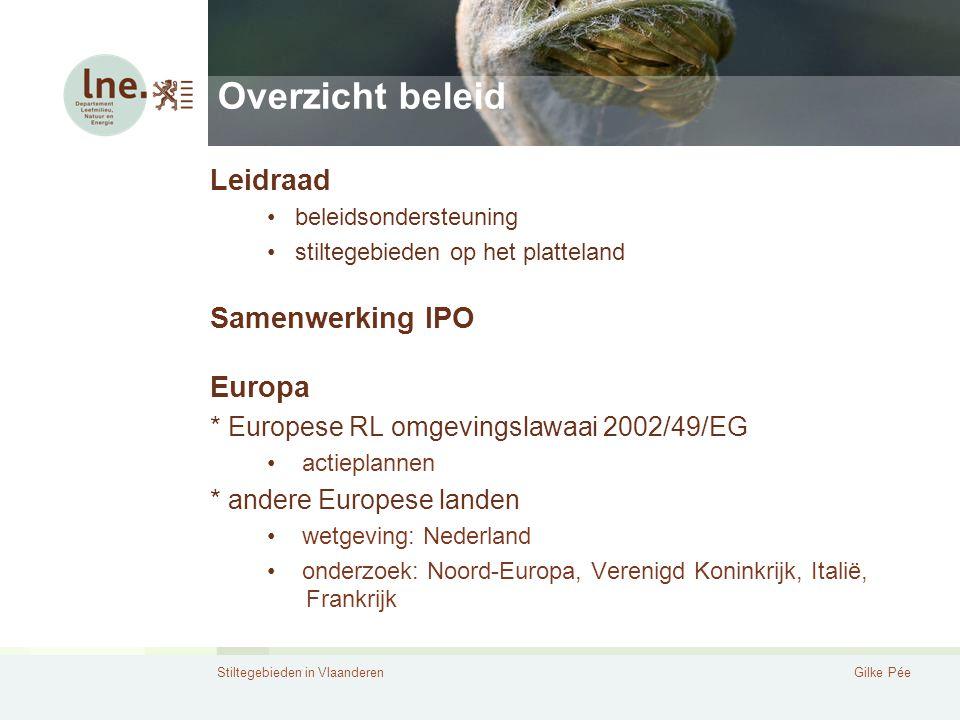Overzicht beleid Leidraad Samenwerking IPO Europa