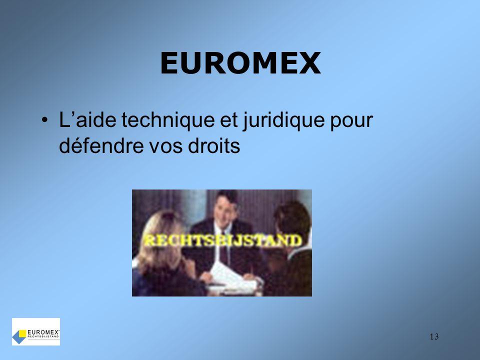EUROMEX L'aide technique et juridique pour défendre vos droits