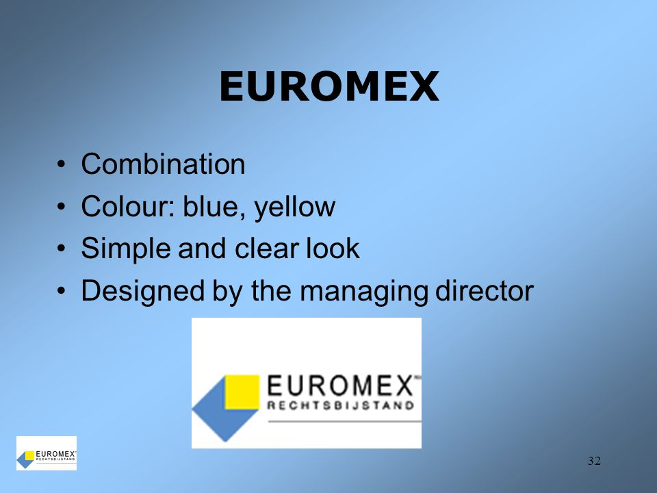 EUROMEX Combination Colour: blue, yellow Simple and clear look