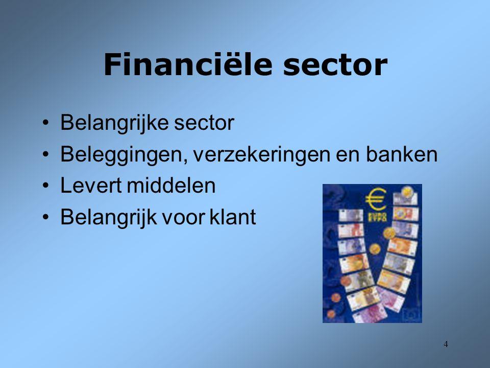 Financiële sector Belangrijke sector