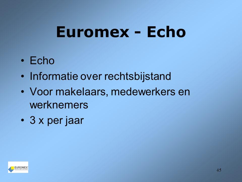 Euromex - Echo Echo Informatie over rechtsbijstand