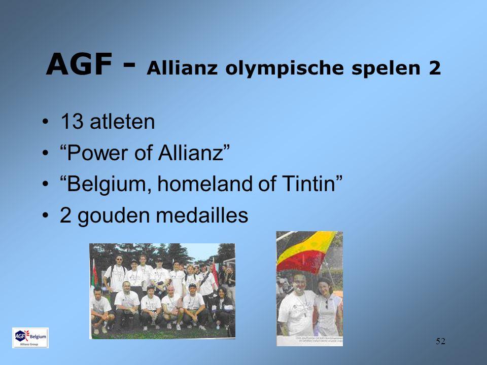 AGF - Allianz olympische spelen 2