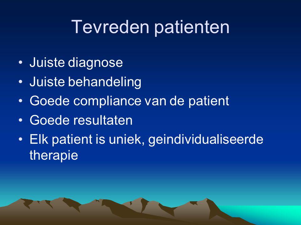 Tevreden patienten Juiste diagnose Juiste behandeling