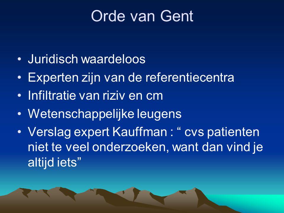 Orde van Gent Juridisch waardeloos