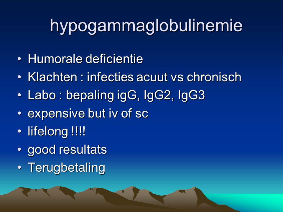 hypogammaglobulinemie