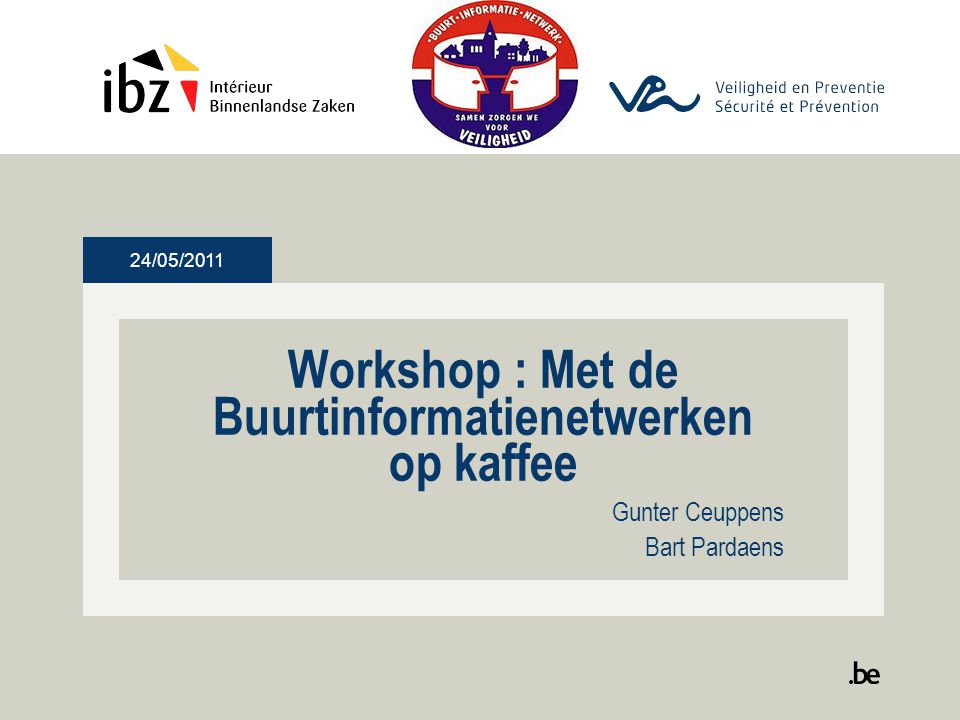 Workshop : Met de Buurtinformatienetwerken op kaffee