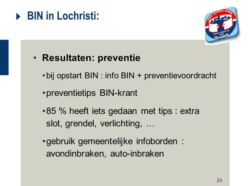 BIN in Lochristi: Resultaten: preventie preventietips BIN-krant