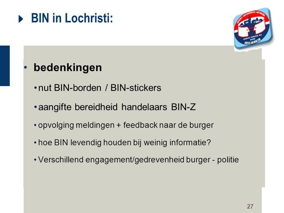 BIN in Lochristi: bedenkingen nut BIN-borden / BIN-stickers