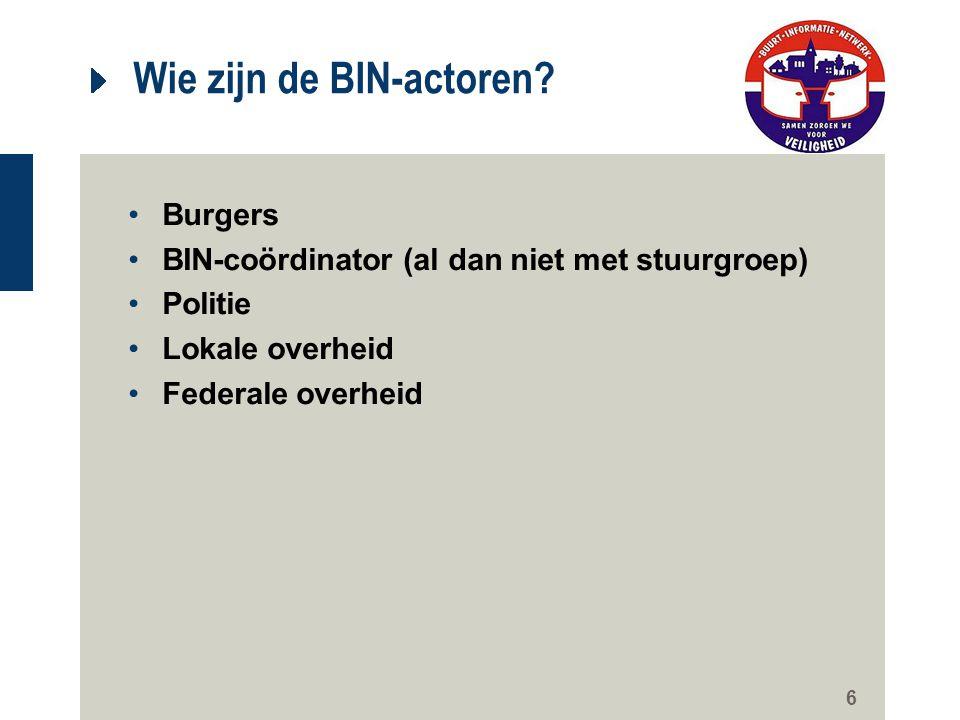 Wie zijn de BIN-actoren