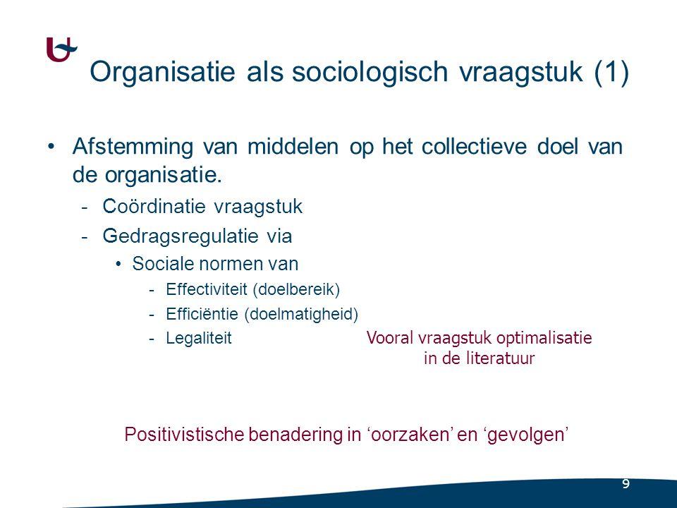 Organisatie als sociologisch vraagstuk (2)