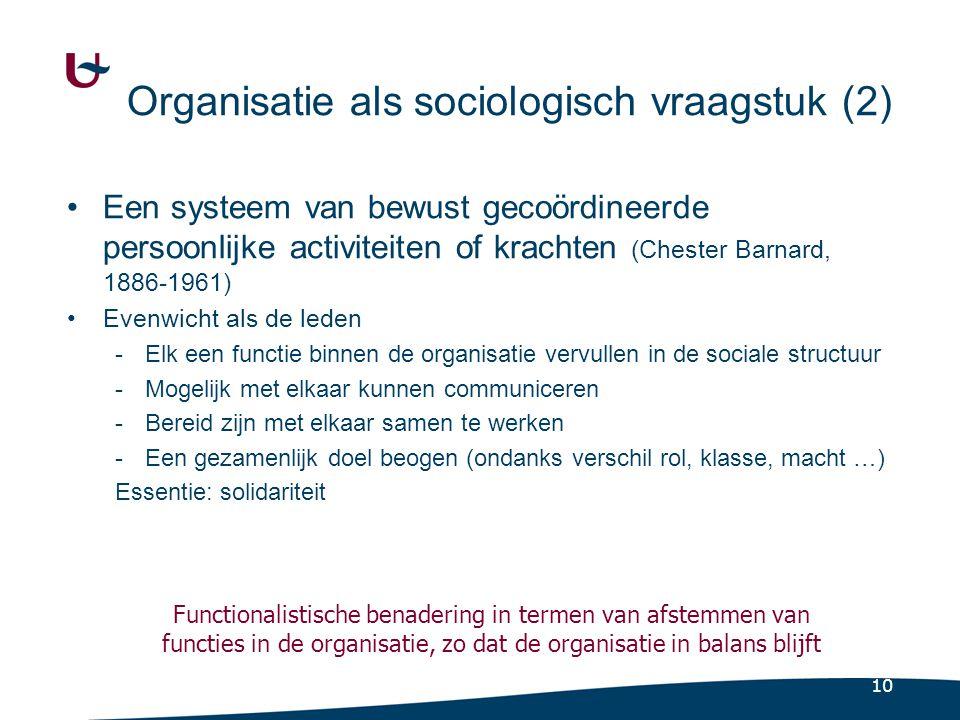 Sociale verhoudingen in organisatie beogen afstemming