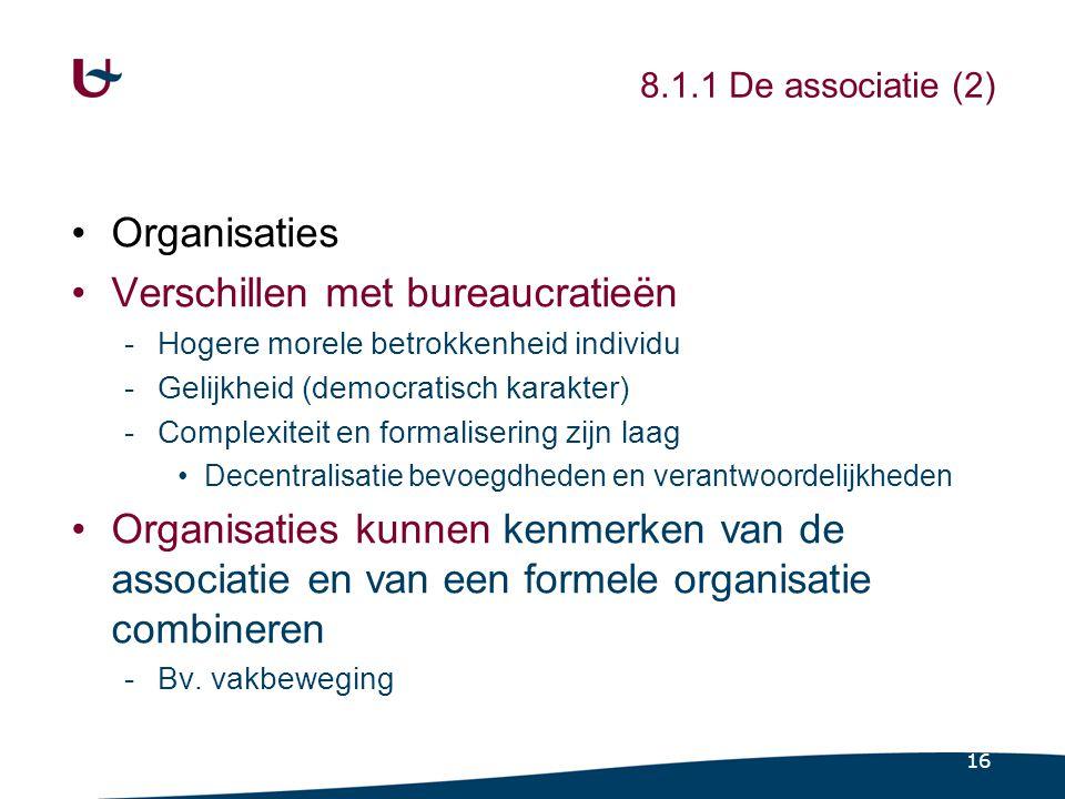 8.1.2 De prebureaucratische organisatie (1)