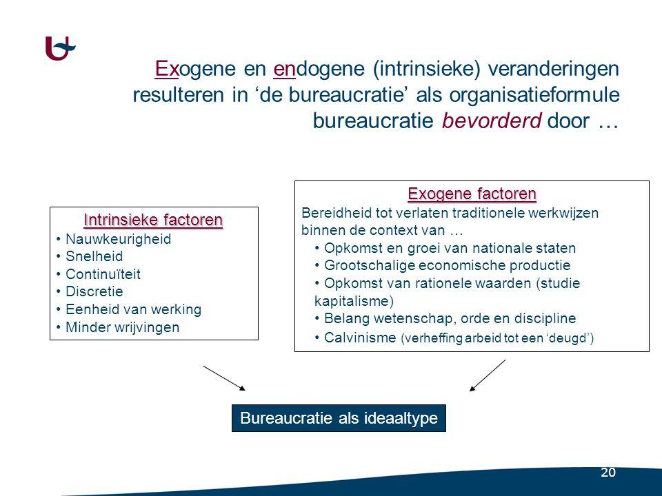 8.1.3 De bureaucratie (2) Definitie. Een formele, rationeel georganiseerde sociale structuur. met duidelijk gedefinieerde handelingspatronen.