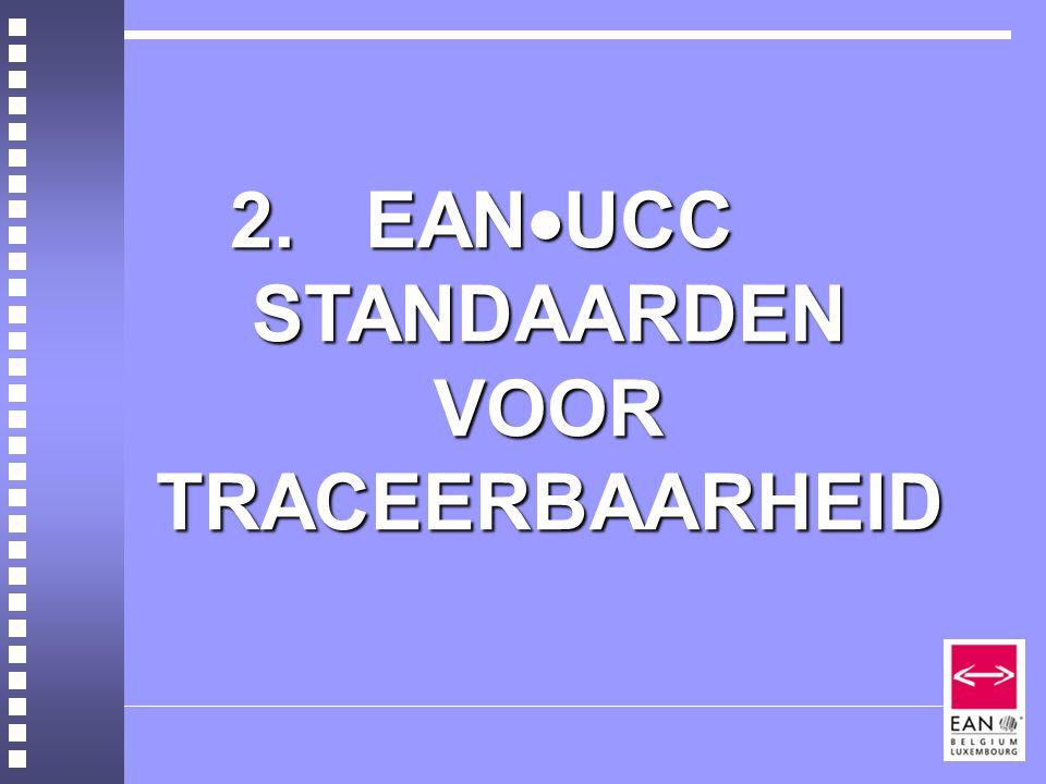 2. EANUCC STANDAARDEN VOOR TRACEERBAARHEID