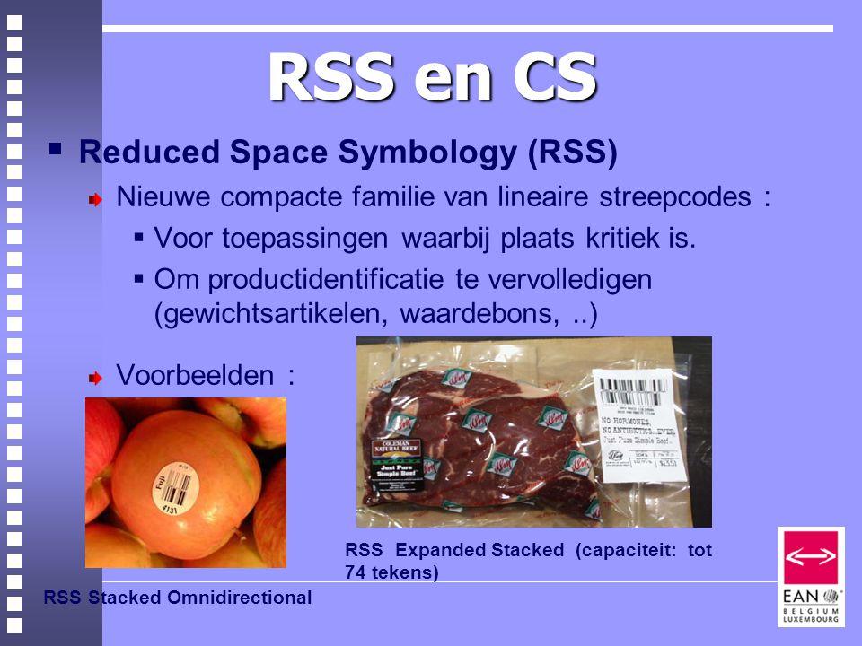 RSS en CS Reduced Space Symbology (RSS)