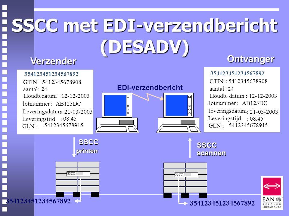 SSCC met EDI-verzendbericht (DESADV)