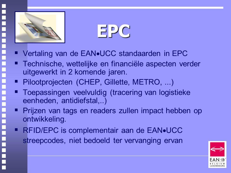 EPC Vertaling van de EANUCC standaarden in EPC