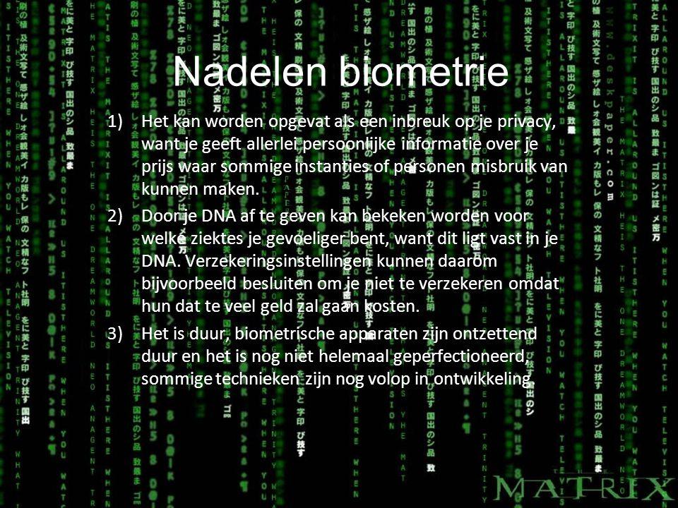 Nadelen biometrie