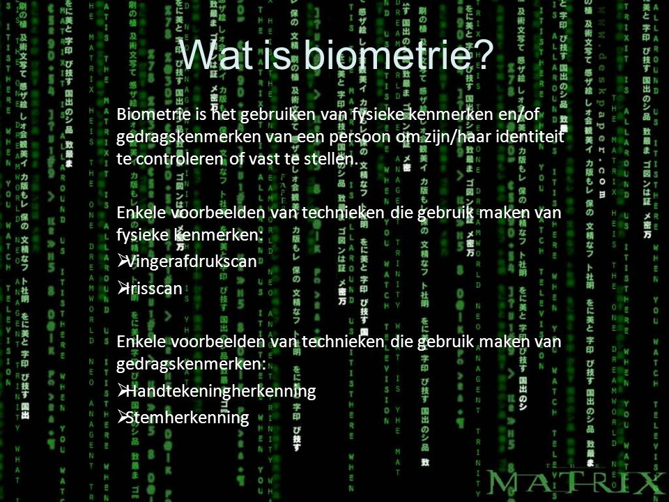 Wat is biometrie