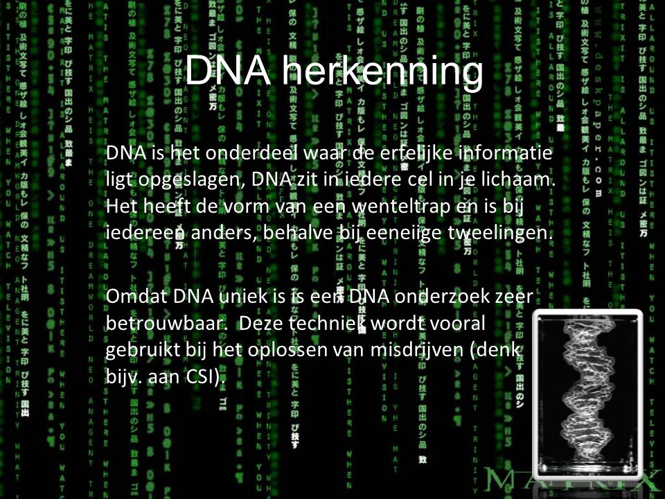 DNA herkenning