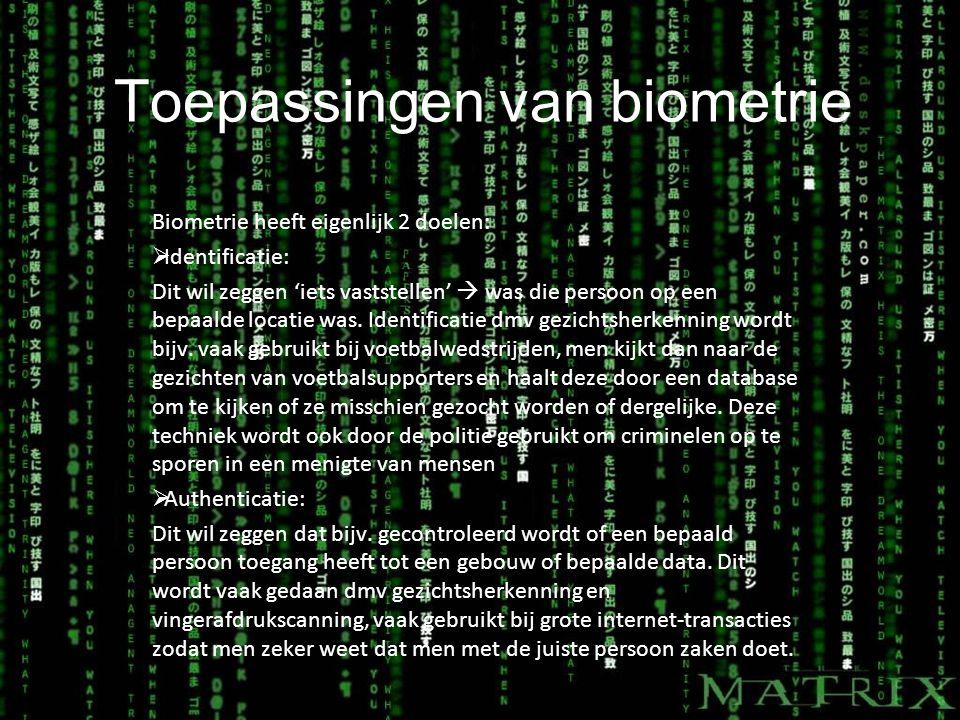 Toepassingen van biometrie