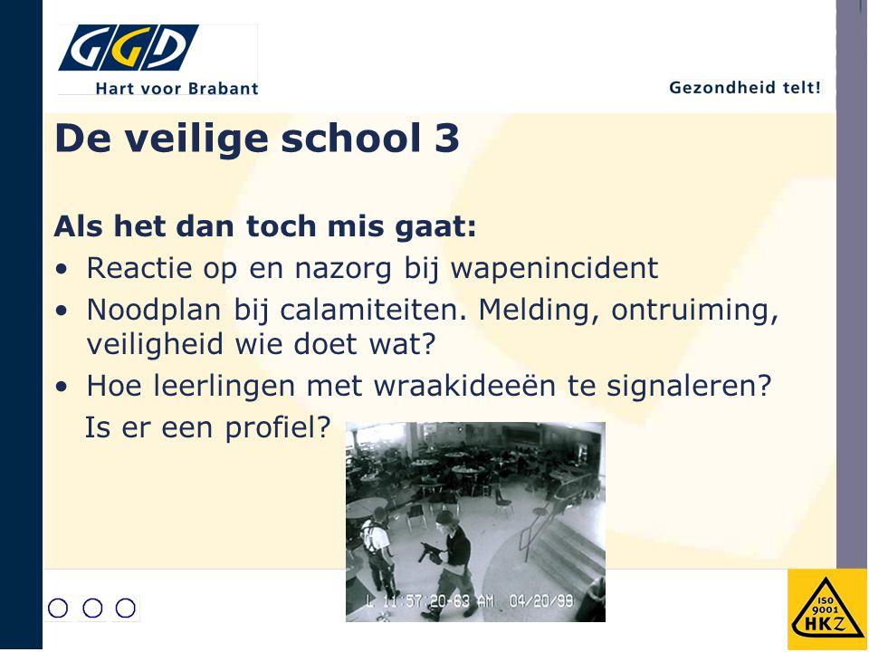 De veilige school 3 Als het dan toch mis gaat: