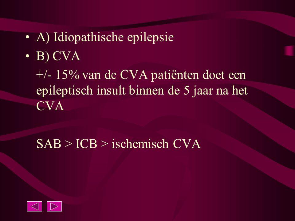 A) Idiopathische epilepsie