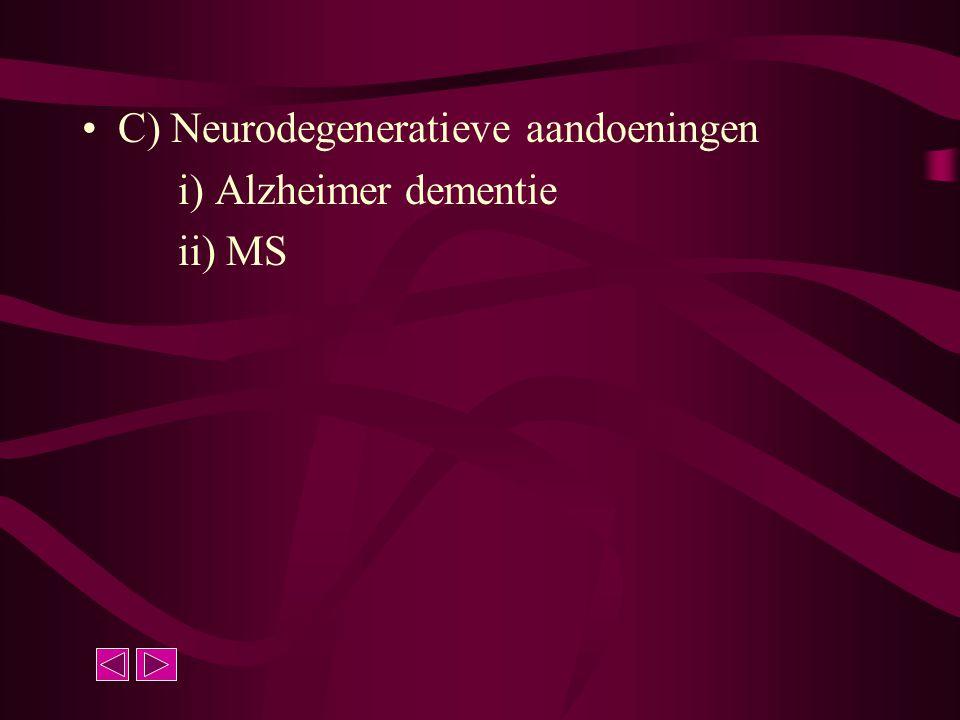 C) Neurodegeneratieve aandoeningen