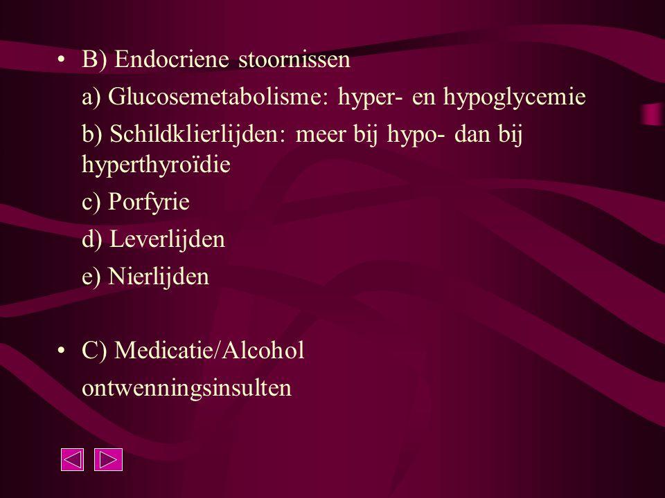 B) Endocriene stoornissen