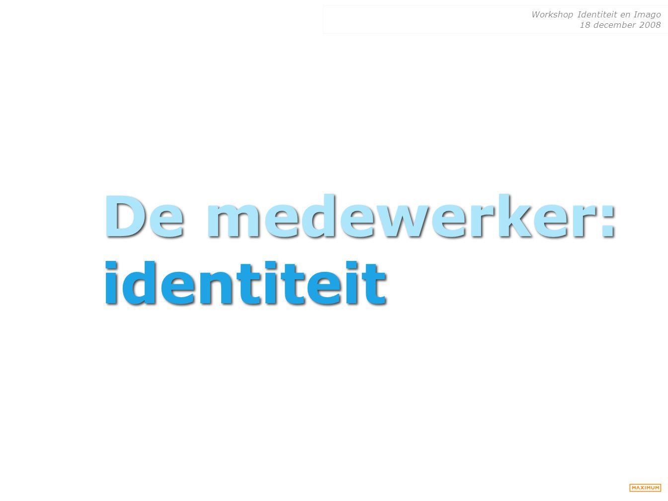 De medewerker: identiteit