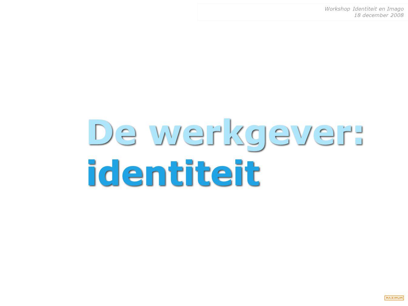 De werkgever: identiteit