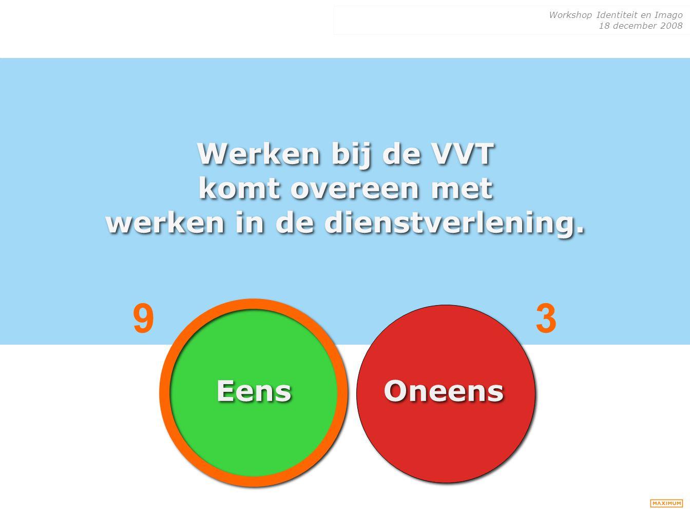 Werken bij de VVT komt overeen met werken in de dienstverlening.