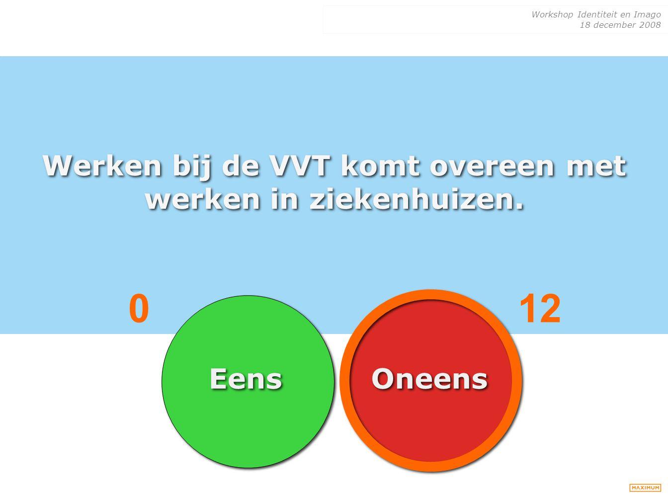 Werken bij de VVT komt overeen met werken in ziekenhuizen.
