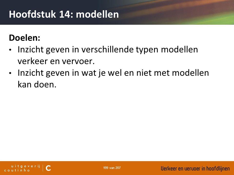 Hoofdstuk 14: modellen Doelen: