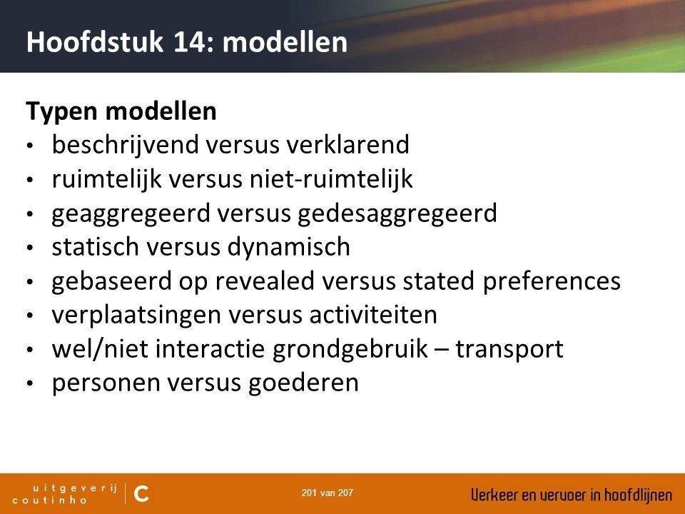 Hoofdstuk 14: modellen Typen modellen beschrijvend versus verklarend