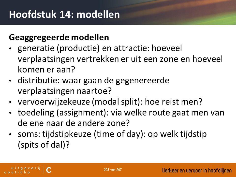 Hoofdstuk 14: modellen Geaggregeerde modellen