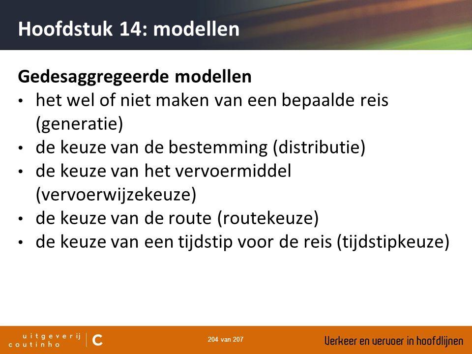 Hoofdstuk 14: modellen Gedesaggregeerde modellen