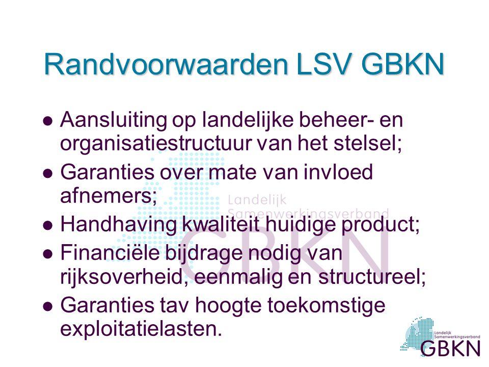 Randvoorwaarden LSV GBKN